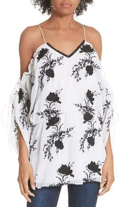 Alice + Olivia Holden Embroidery Drop Waist Blouse