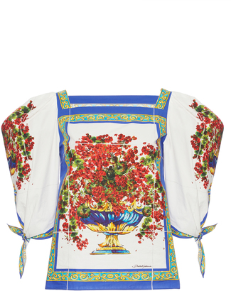 Dolce & Gabbana Printed Cotton Blouse $675 thestylecure.com