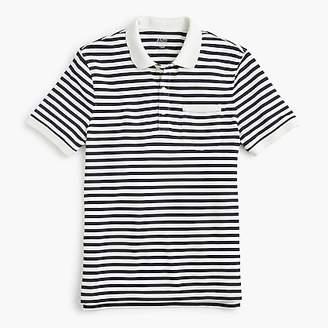 J.Crew Stretch piqué polo shirt in stripe