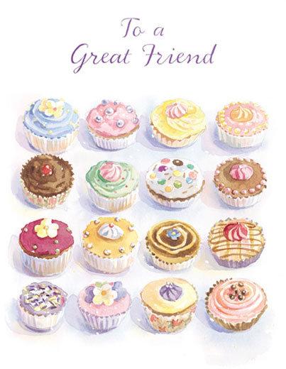 CARGO Cupcakes 2 Greetings Card