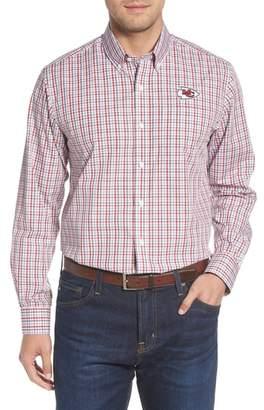 Cutter & Buck Atlanta Falcons - Gilman Regular Fit Plaid Sport Shirt