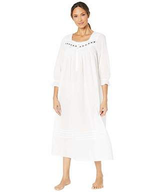 Eileen West Cotton Lawn Woven Long Sleeve Ballet Nightgown