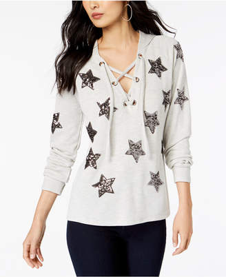 INC International Concepts I.n.c. Embellished Star Hoodie, Created for Macy's