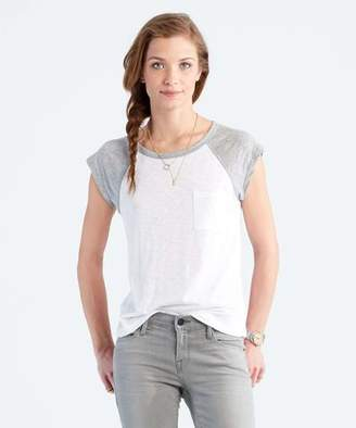 Todd Snyder + Champion: Womens Women's Raglan Muscle Tee in White