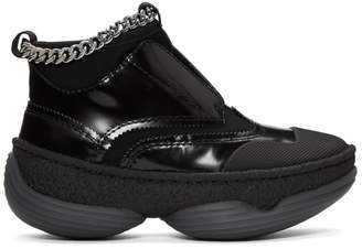 Alexander Wang Black A1 Slip-On High-Top Sneakers