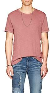 "J Brand Men's ""Grandpa"" Distressed Linen-Cotton T-Shirt - Red"