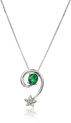 Incanto Royale Emerald and Diamond Star 18K Gold Pendant Necklace
