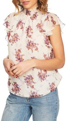1 STATE 1.STATE Wildflower Flutter Sleeve Blouse