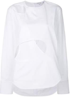 Helmut Lang cut out detail blouse