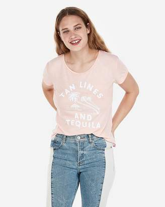 Express One Eleven Tanlines Tequila Boxy Graphic Tee