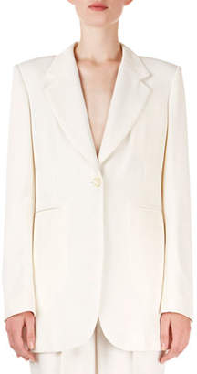 Isabel Marant Praise Peak Shoulder Single-Breasted Blazer