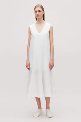 Cos COTTON POPLIN SLEEVELESS DRESS