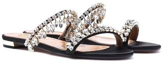 Aquazzura Eden embellished satin sandals