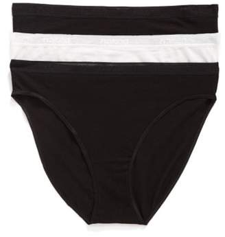 Naked 3-Pack Stretch Pima Cotton High Cut Panties