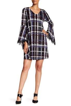 Nina Leonard Patterned Trapeze Dress