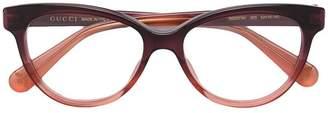 Gucci contrast cat-eye glasses