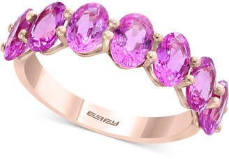 Effy Pink Sapphire Ring (4 ct. t.w.) in 14k Rose Gold