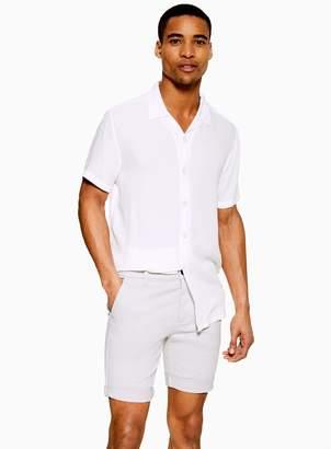 Topman Light Grey Stretch Skinny Chino Shorts