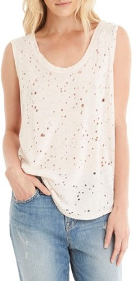 Women's Michael Stars Destroyed Muscle Tee $78 thestylecure.com