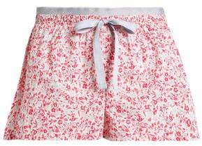 Calvin Klein Floral-Print Cotton-Poplin Pajama Shorts