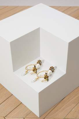Erdem Hoop Bee earrings