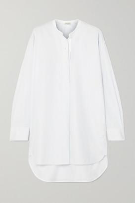 By Malene Birger Tilli Striped Cotton-poplin Shirt - Blue
