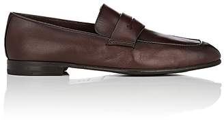 Ermenegildo Zegna Men's Burnished Leather Penny Loafers