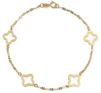 Bloomingdale's Quatrefoil Station Bracelet in 14K Yellow Gold - 100% Exclusive