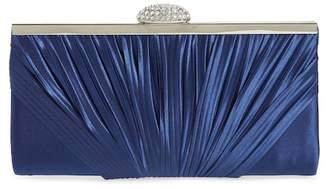 Nordstrom Pleated Satin Frame Clutch