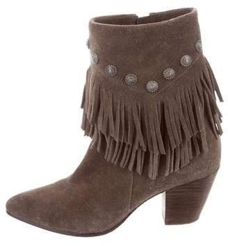 Belle by Sigerson Morrison Fringe-Trimmed Ankle Boots