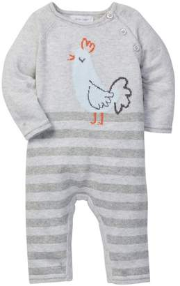 Angel Dear Rooster Intarsia Coverall (Baby Boys)