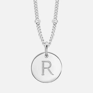 Missoma Women's Silver 'R' Initial Necklace - Sterling Silver
