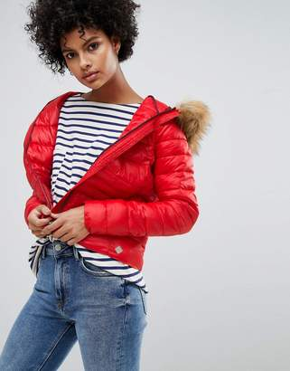 Vero Moda Faux Fur Hooded Padded Jacket