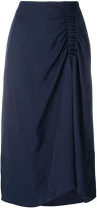 Tibi gathered detail skirt