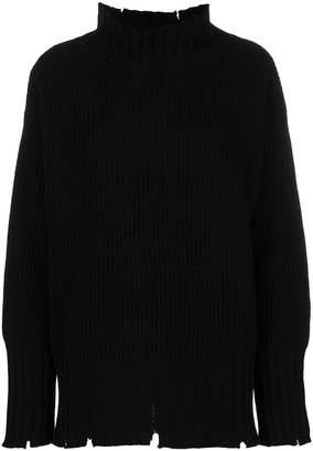 MSGM oversized distressed sweater