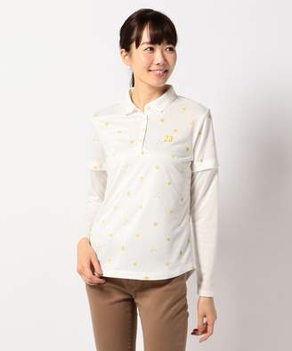 23区 (ニジュウサンク) - 23区GOLF 【WOMEN】【袖脱着可】とび柄ポロシャツ(C)FDB