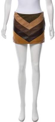 Haute Hippie Leather Mini Skirt