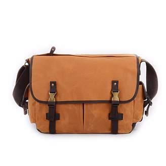 EAZO - Waxed Canvas Water Repellent Shoulder Bag in Tan Colour