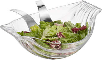 Nambe Drift Salad Bowl With Servers