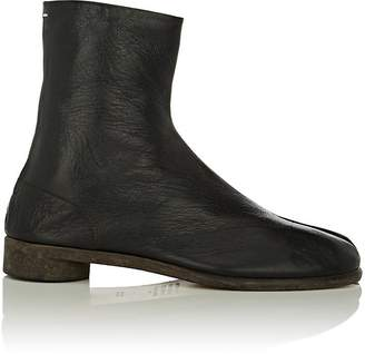 Maison Margiela Men's Tabi Split-Toe Leather Boots