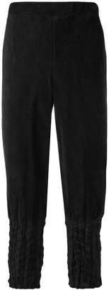 Issey Miyake creased tapered trousers