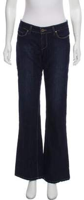 Paige Flared Mid-Rise Jeans
