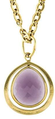 Vaubel Purple Glass Drop Pendant Necklace