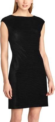 Chaps Women's Striped Velvet Dress
