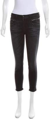 R 13 Zip-Accented Mid-Rise Jeans