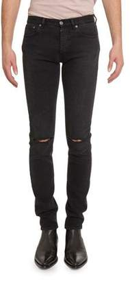 Givenchy Men's Distressed Skinny Stretch-Denim Jeans, Black