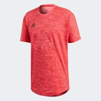 b129887319f adidas Mens Tango Terry Short Sleeve Football Training Jersey Real Coral
