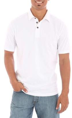 Wrangler Men's Short Sleeve Self Collar Polo