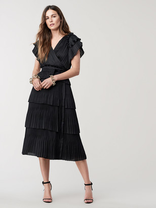 Diane von Furstenberg Sasha Pleated Ruffle Wrap Dress