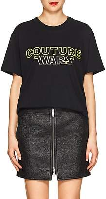 "Moschino Women's ""Couture Wars"" Cotton T-Shirt"